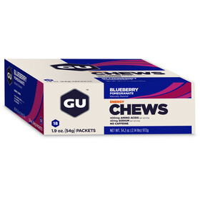 GU Energy Chews Box Blaubeere-Granatapfel 18 x 54g